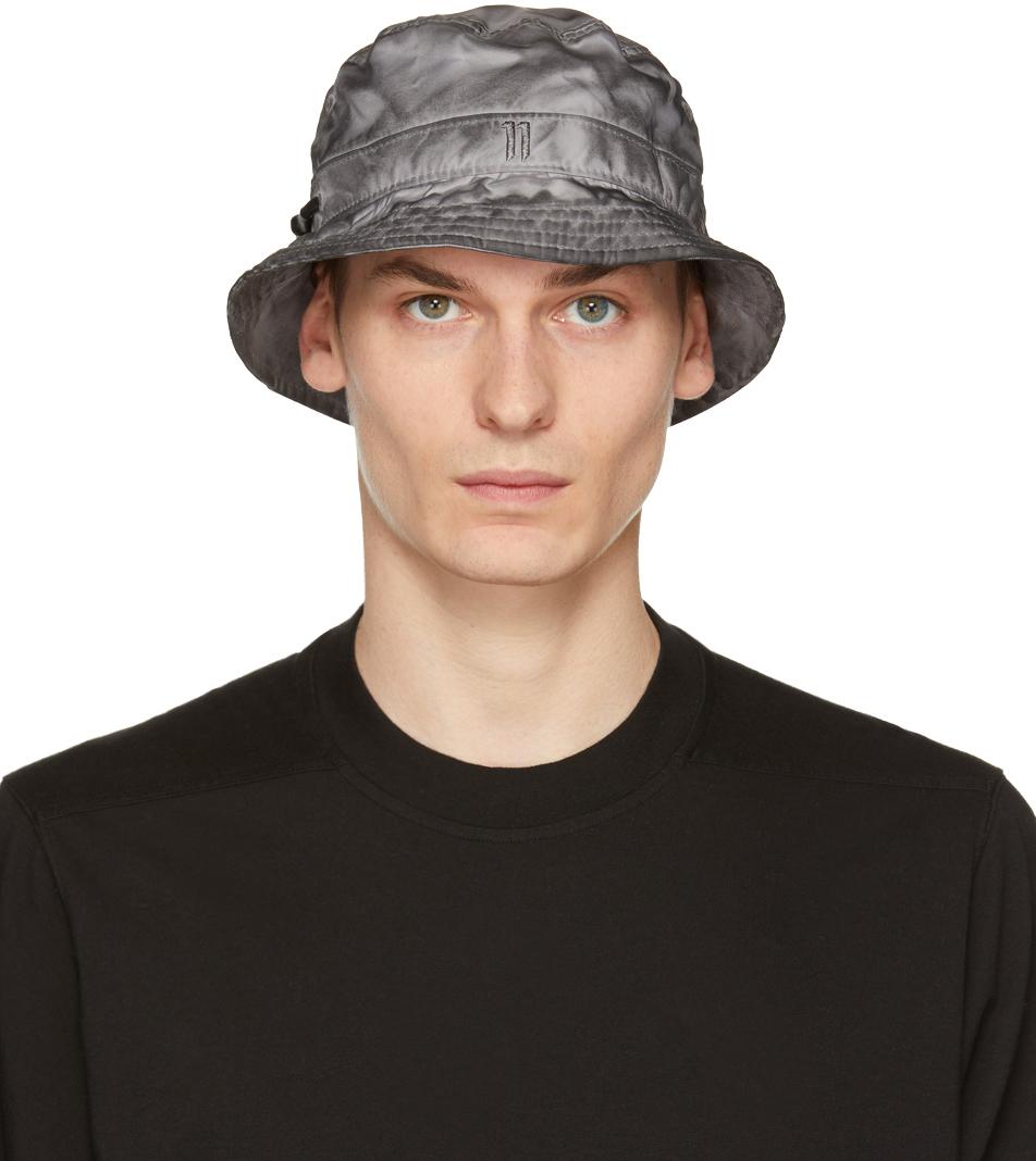 11 by Boris Bidjan Saberi Grey New Era Edition Logo Bucket Hat 202616M140003