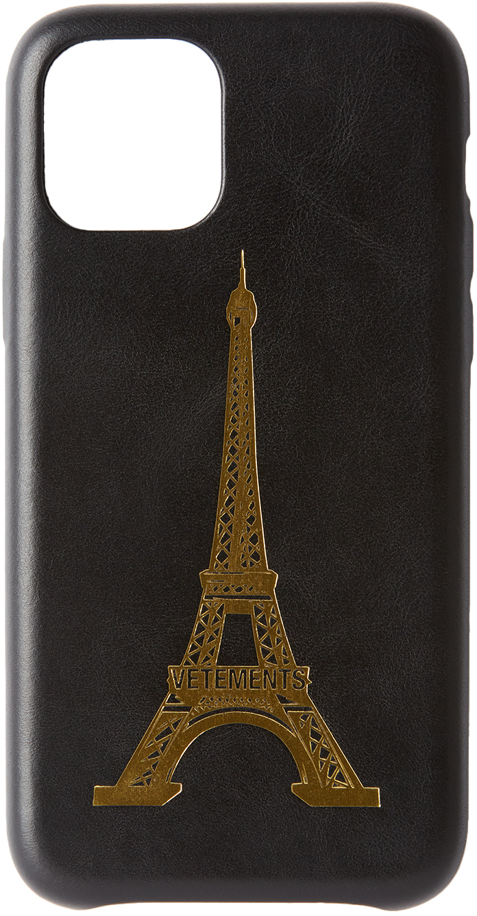 Black Eiffel Tower iPhone 11 Pro Case