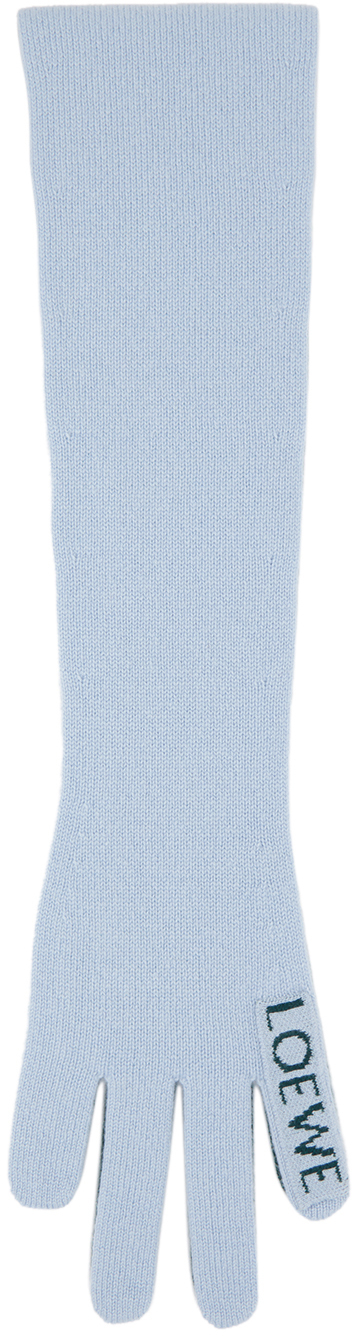 Loewe ブルー & グリーン カシミア Hand マフラー