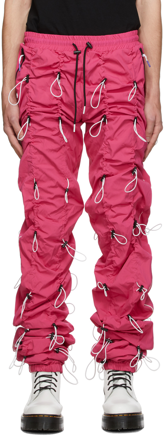 99 IS Pink White Gobchang Lounge Pants 202689M190008