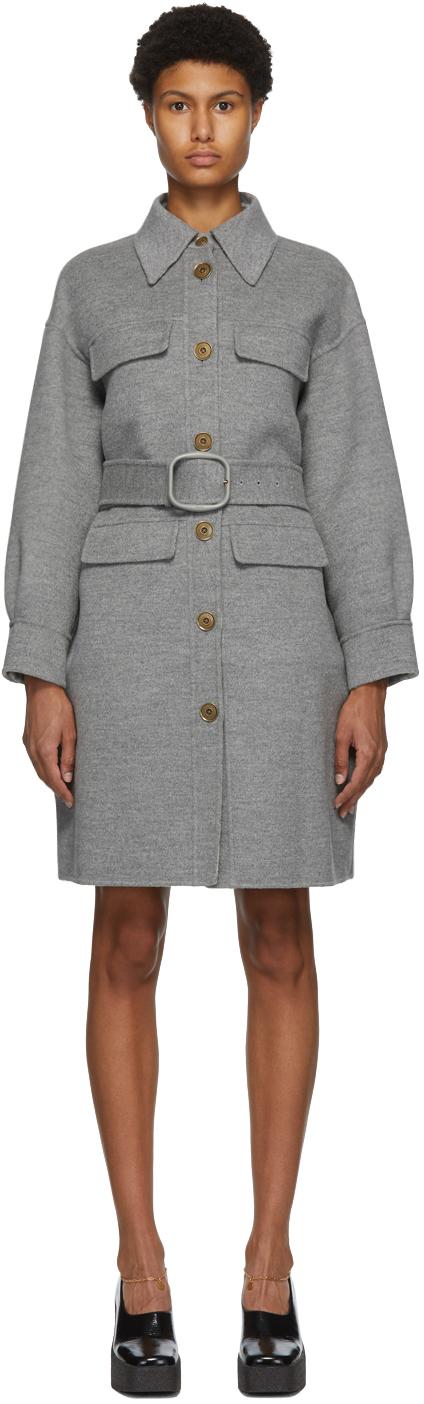 Fendi 灰色 Double 大衣
