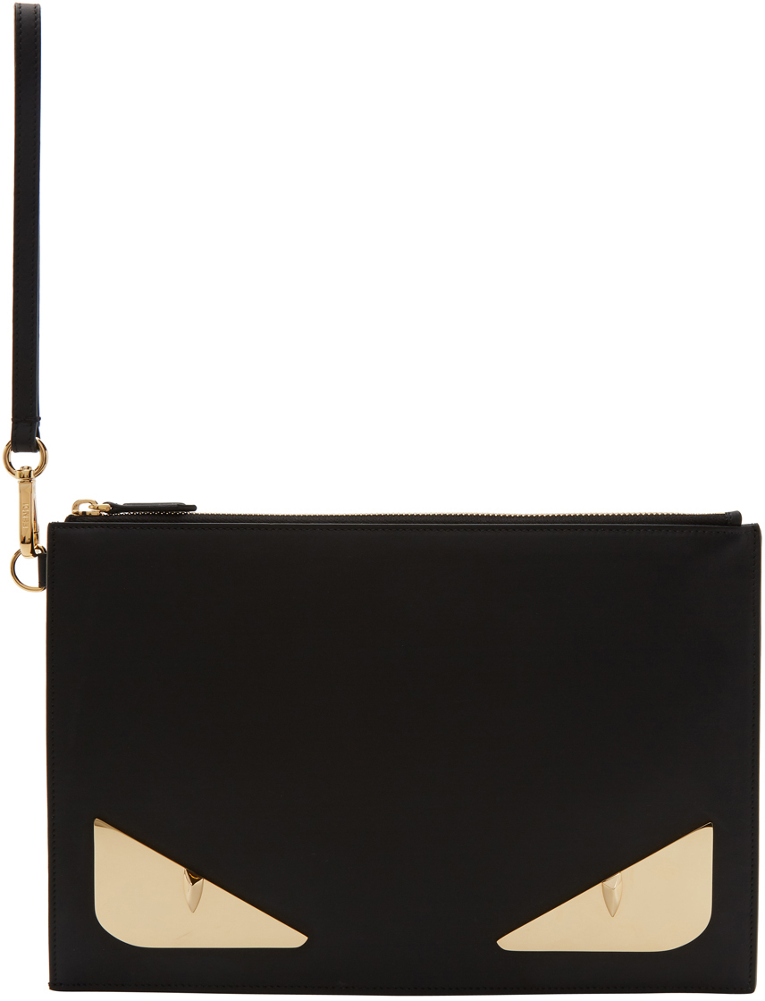 Black & Gold Bag Bugs Pouch