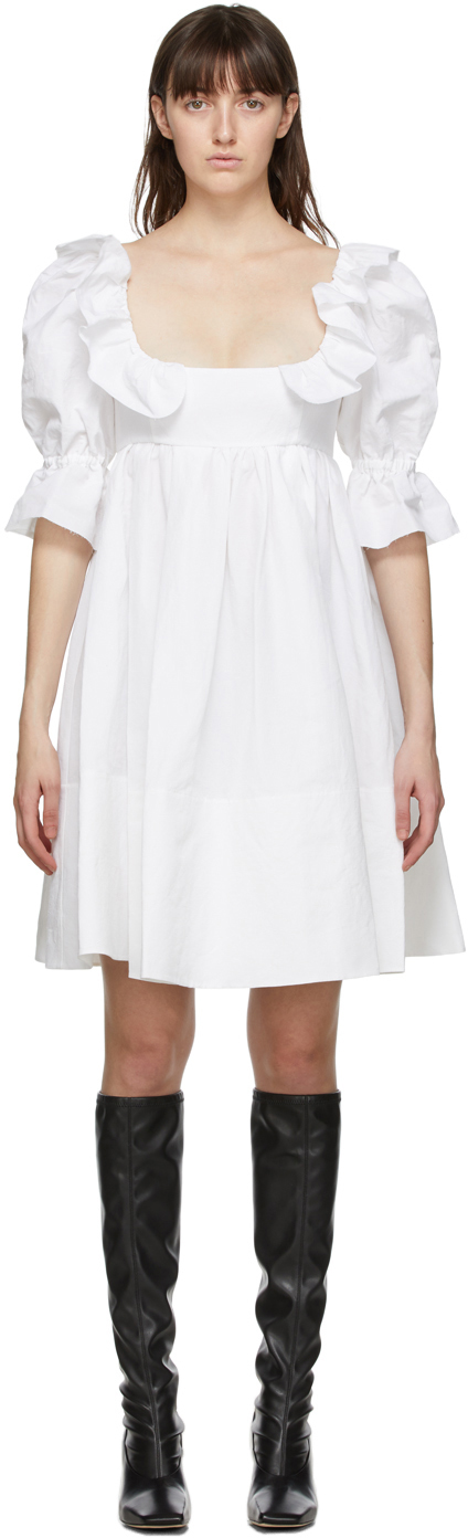 White Romana Dress