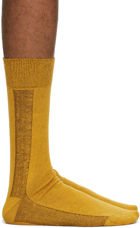 Yellow Border Socks