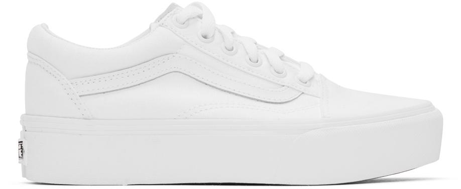 vans blanches plateforme
