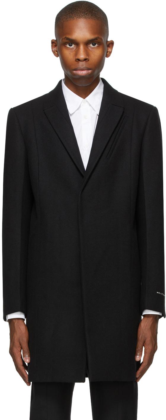 1017 ALYX 9SM Black Wool Classic Coat 202776M176011