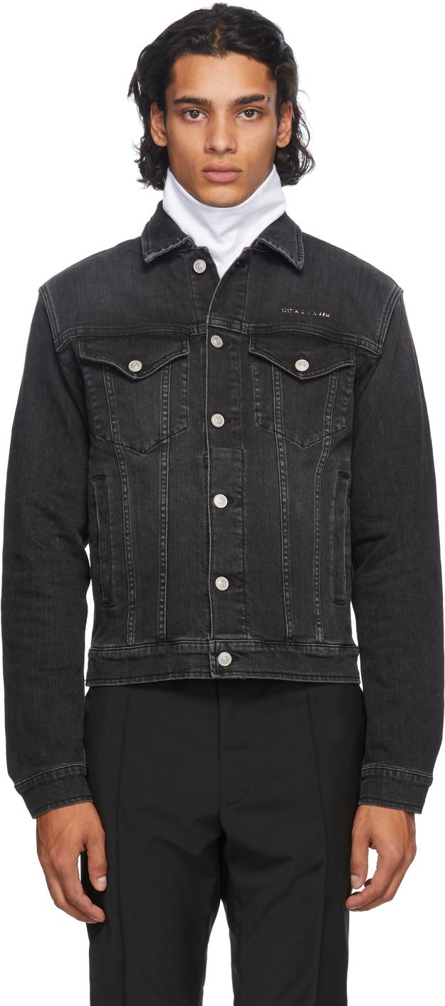 1017 ALYX 9SM Black Denim Collection Stitching Jacket 202776M177184