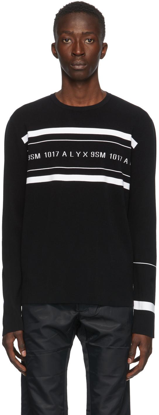 1017 ALYX 9SM Black Knit Logo Sweater 202776M201005
