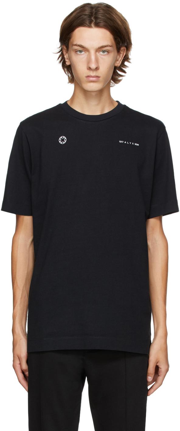 1017 ALYX 9SM Black Double Logo T Shirt 202776M213069