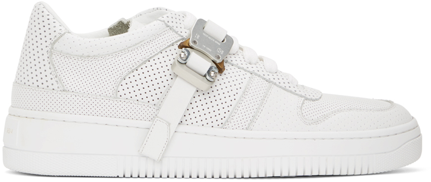 1017 ALYX 9SM White Buckle Sneakers 202776M237161
