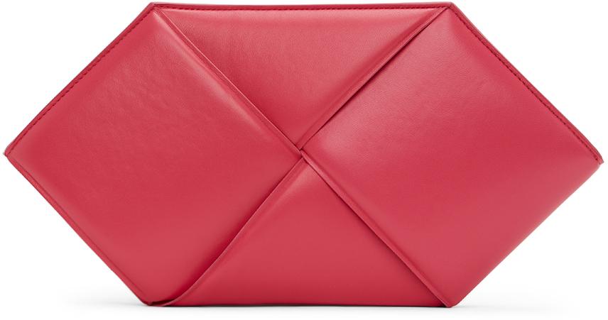 Pink Hexagonal Pouch
