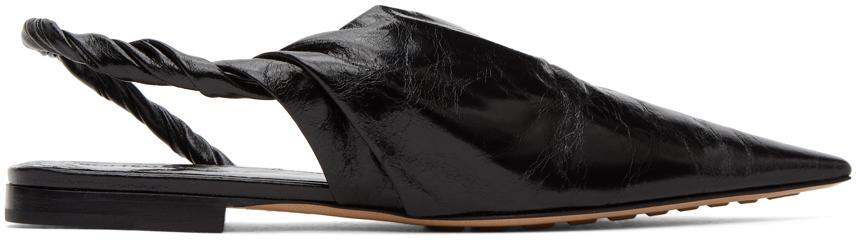 Bottega Veneta 黑色纳帕露跟芭蕾平底鞋