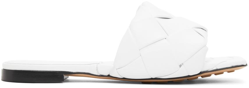 Bottega Veneta 白色 Intrecciato Lido 平底凉鞋