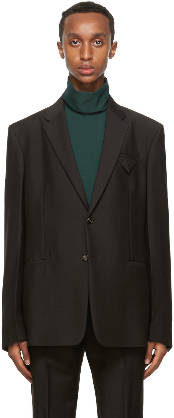 Bottega Veneta 棕色双扣西装外套