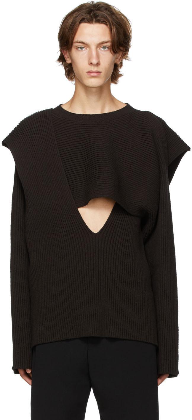 Bottega Veneta 棕色 Open 针织衫
