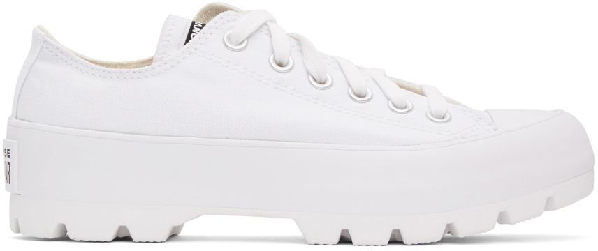 White Chuck Taylor All Star Lugged OX Low Sneakers