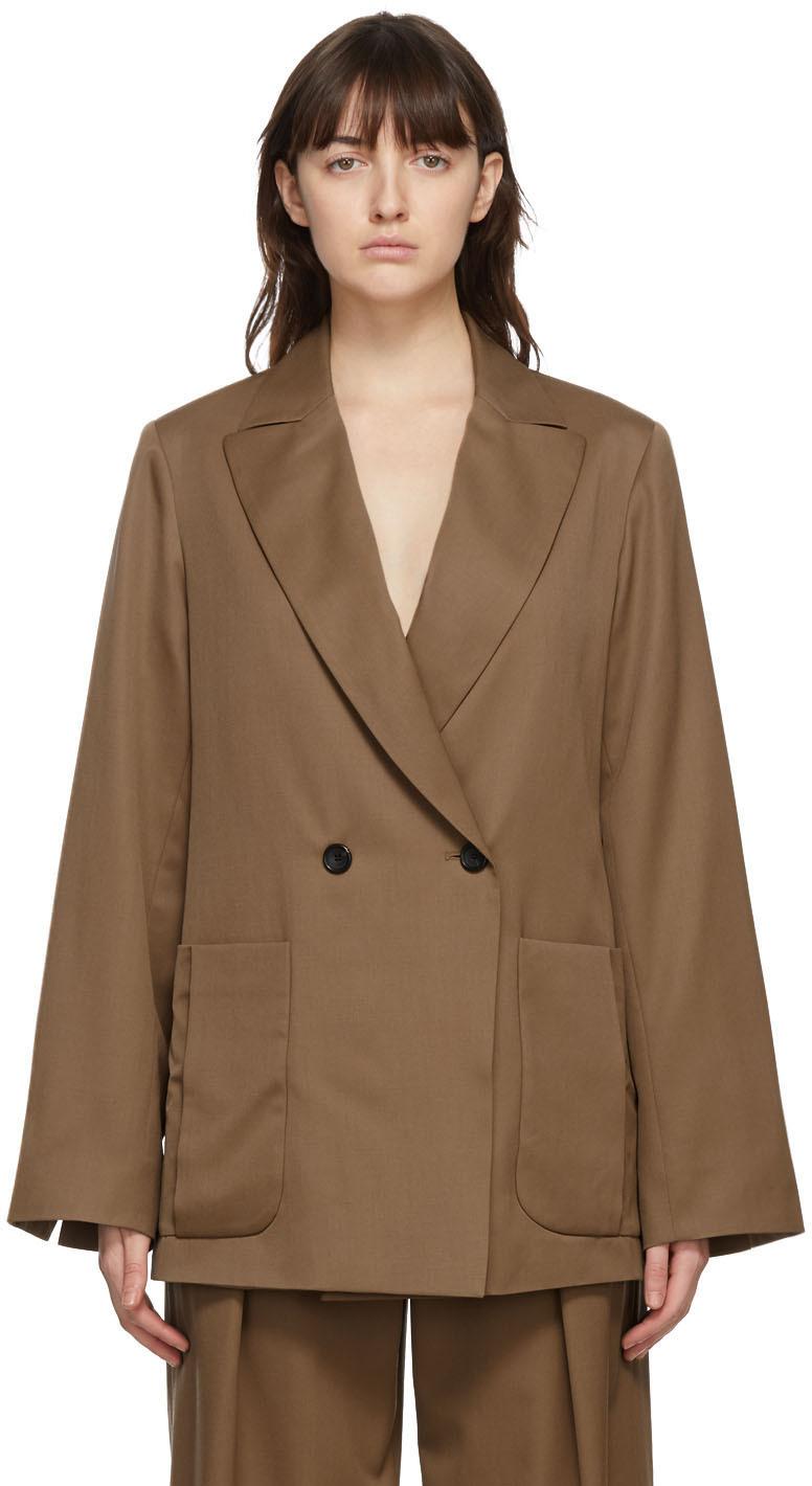 Brown Wool Yavi Blazer