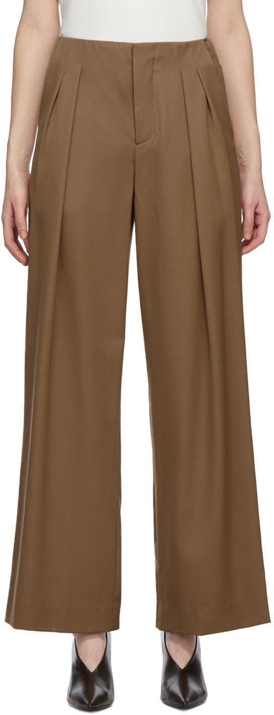 Brown Wool Xander Trousers