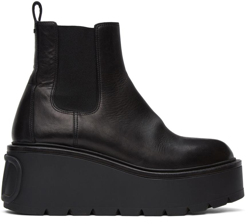 Valentino Garavani 黑色 Valentino Garavani VLogo 踝靴