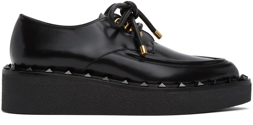 Valentino Garavani 黑色 Valentino Garavani 系列 Rockstud 牛津鞋
