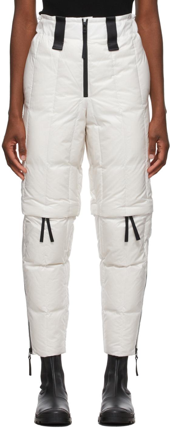 White Down Transform Trousers