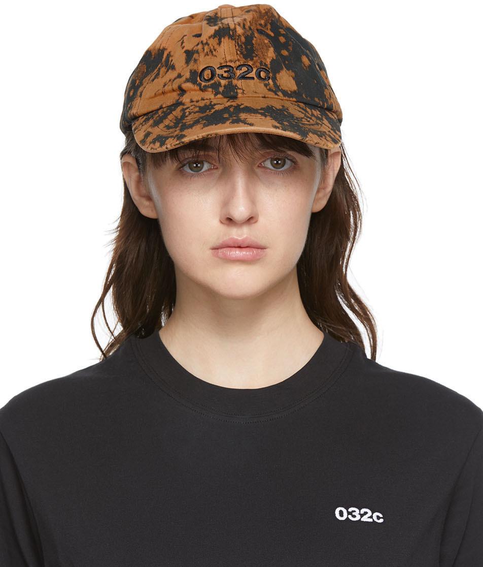 032c Black Brown Die Todliche Doris Edition Bleached Logo Cap 202843F016009