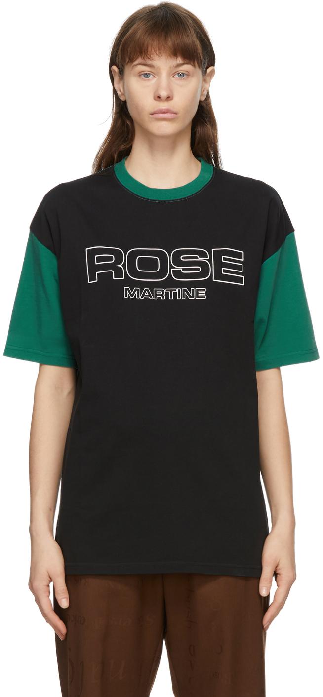 Martine Rose Black & Green Berghain T-Shirt