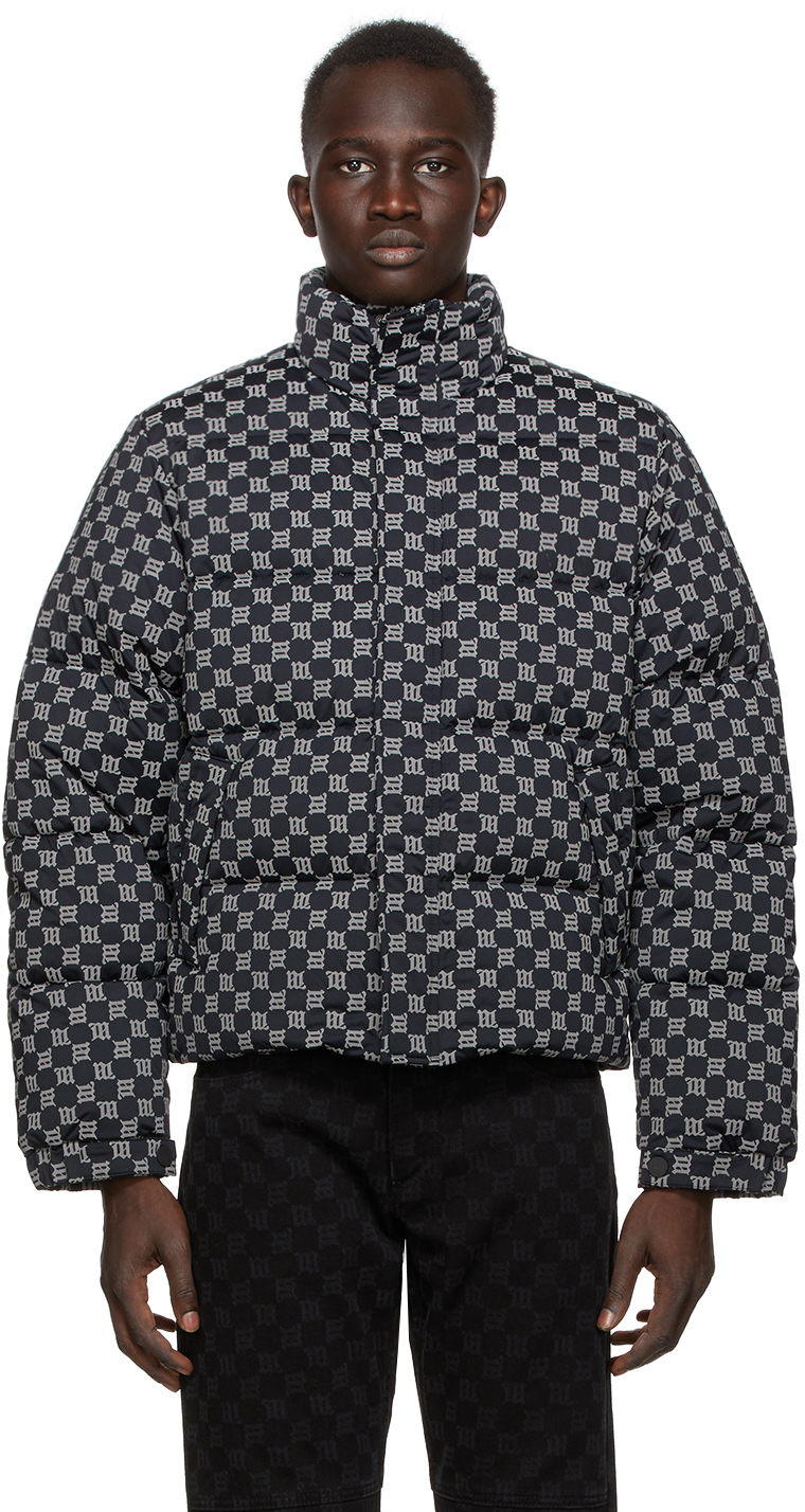 Black Reflective Monogram Jacket