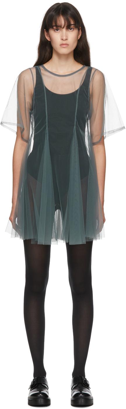 Molly Goddard SSENSE 独家发售灰色 Celeste 连衣裙