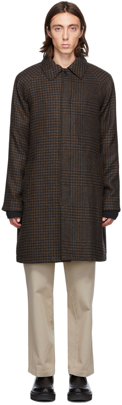 HOPE Brown Check Solid Coat