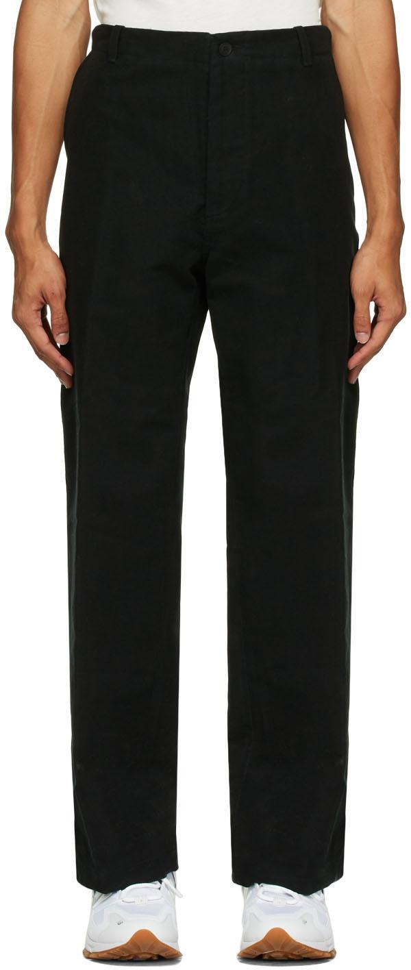 HOPE Black Velvet Van Trousers