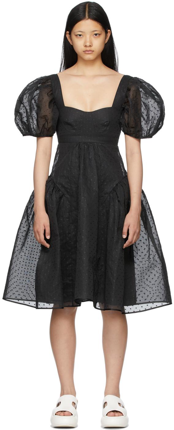 Black Organdie Lumi Dress
