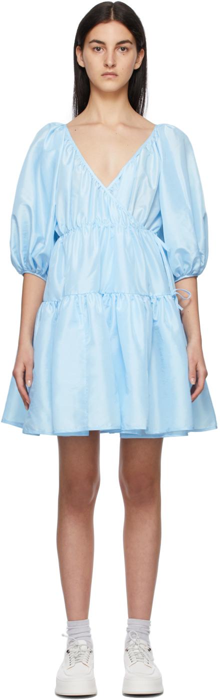 Blue Susannah Wrap Dress