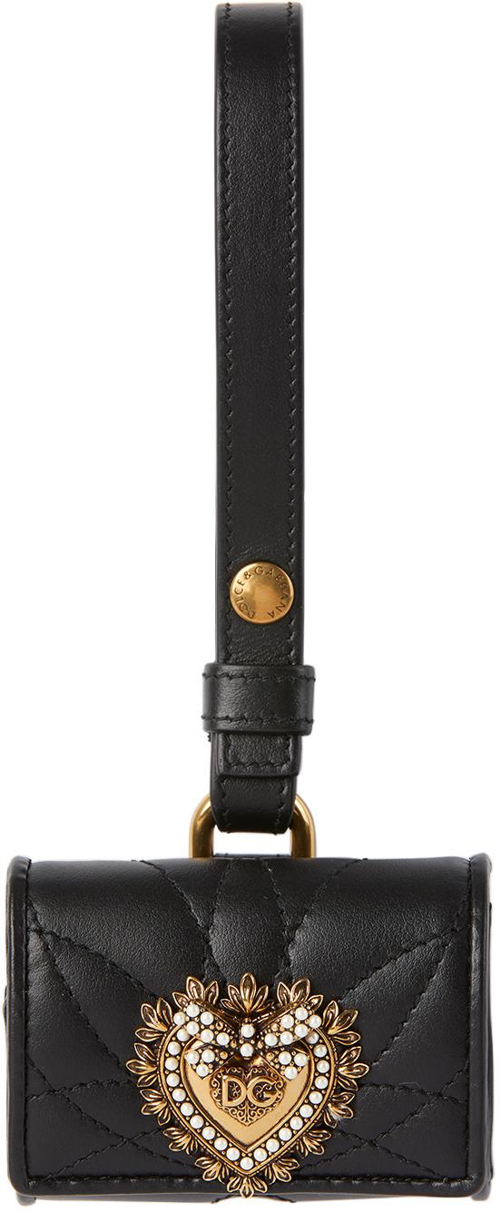 Dolce & Gabbana 黑色 Devotion AirPods Pro 皮革耳机保护套