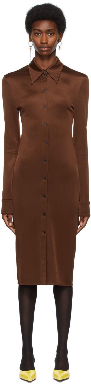 SSENSE Exclusive Brown Button Down Dress