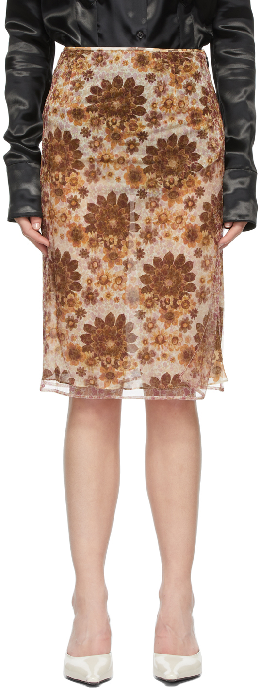 Multicolor Floral Skirt