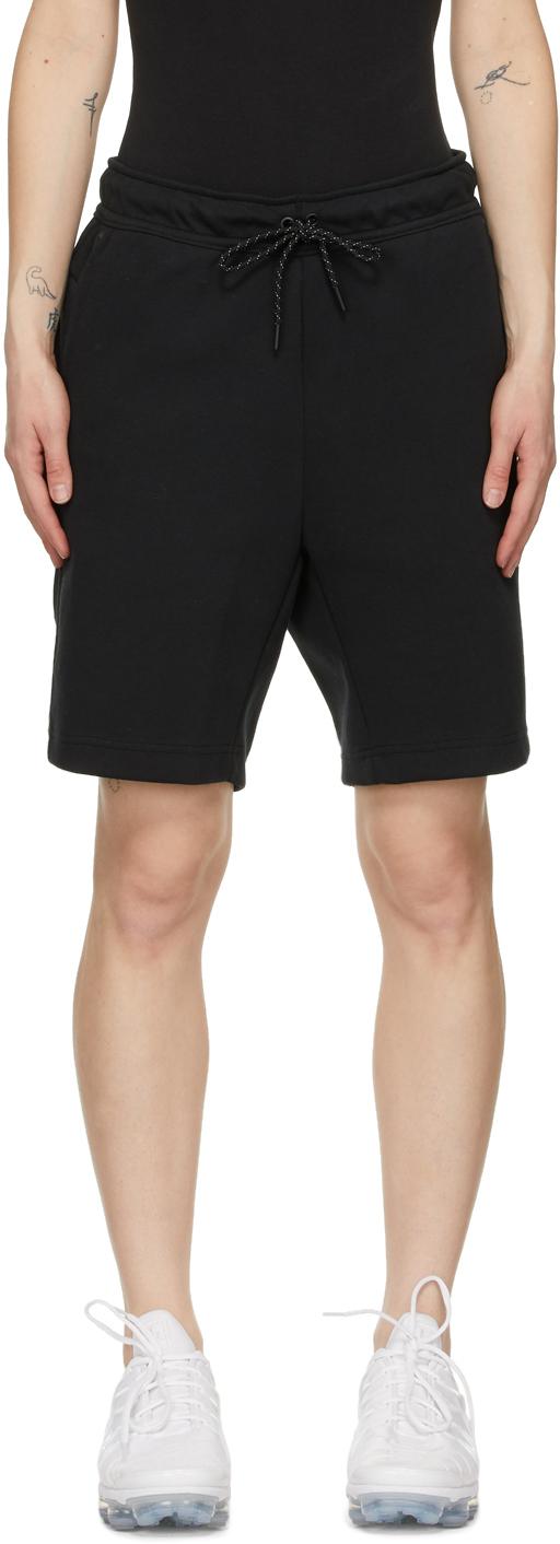 Black Tech Fleece Shorts