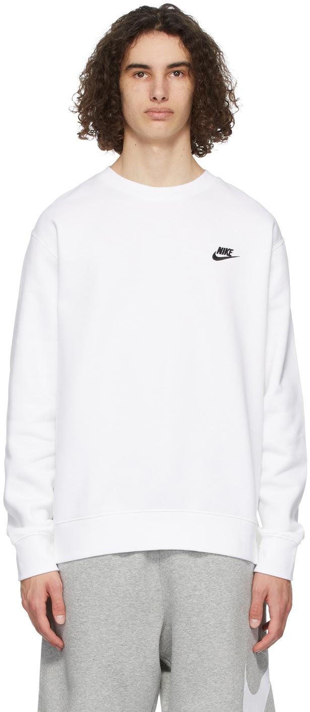 White Sportswear Club Sweatshirt