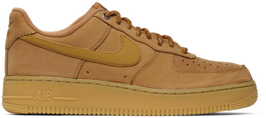 Brown Nubuck Air Force 1 '07 Sneakers