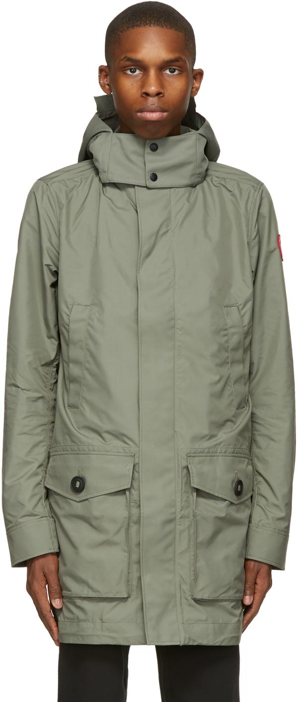 Green Crew Trench Coat