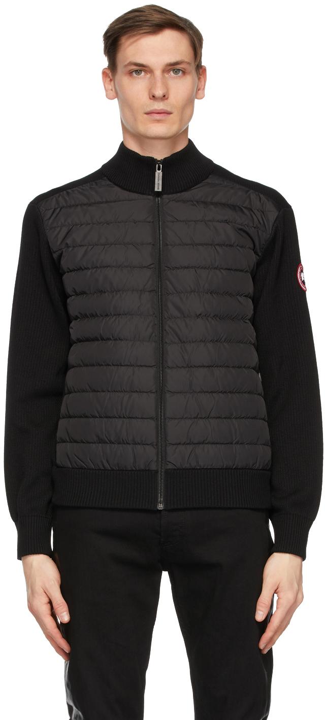 Black Down Hybridge Jacket