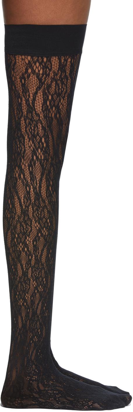 Black Ree Stay-Up Socks