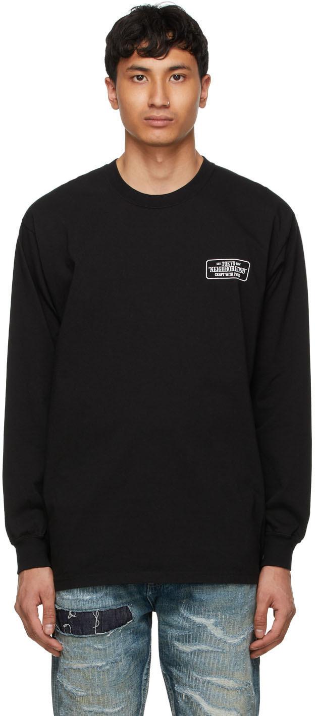 Neighborhood 黑色 Bar & Shield 长袖 T 恤