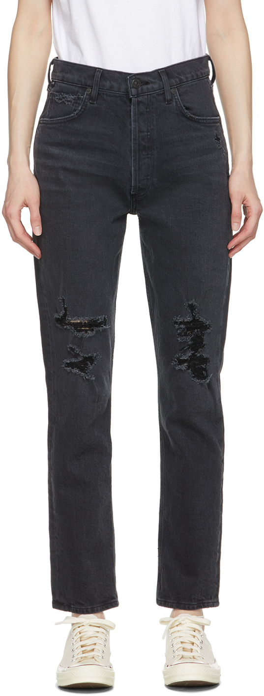 Black High-Rise Charlotte Jeans