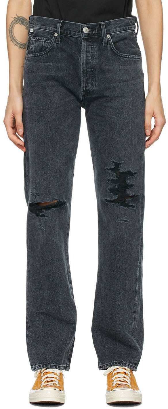 Black Emery High-Rise Relaxed Jeans