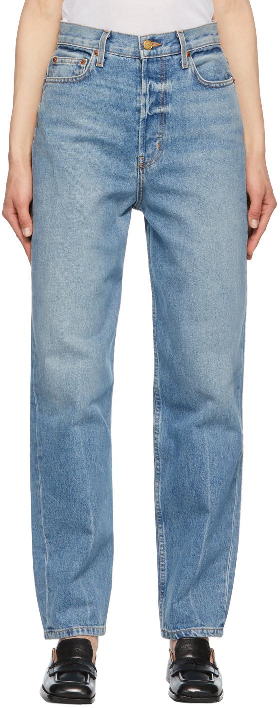 Blue Claude High Taper Jeans