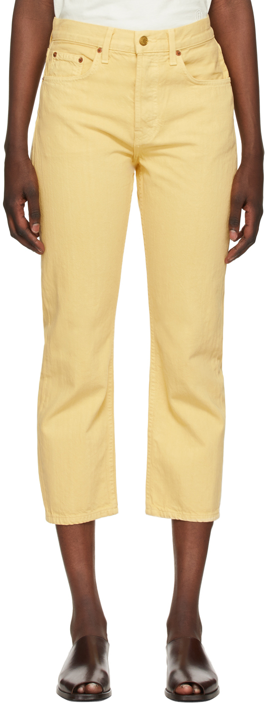Yellow Marcel Relaxed Straight Jeans