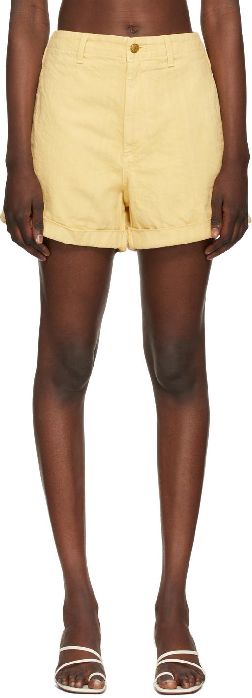 Yellow Cinch Haydée Overdye Shorts