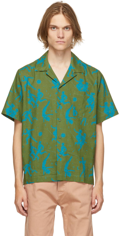 Carne Bollente Green 'The Sighing Game' Short Sleeve Shirt
