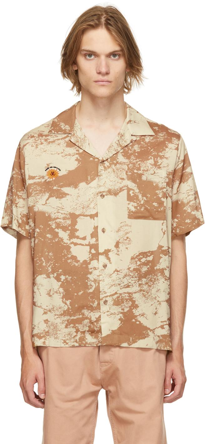 Beige 'The Rock Hard' Short Sleeve Shirt